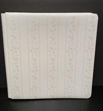 Creative Memories 12x12 White Wedding Album 15 White Pages Floral Vine Stripe