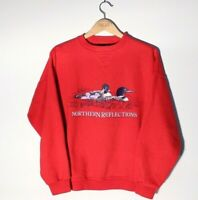 Vintage Northern Reflections Large Red Crew Neck Sweater Made in Canada