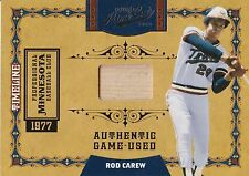 Rod Carew., 2008 Donruss,Game Used Bat 10 of 10 Limited Edition