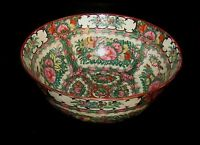 "ELEGANT 19TH CENTURY ANTIQUE ROSE MEDALLION 12"" BOWL"