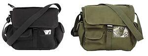 Urban Explorer Shoulder Bags - Black or Green Compact Canvas Bag w/ 12 Pockets!