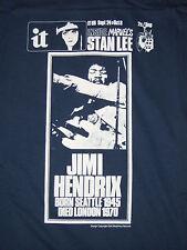 Jimi Hendrix it international times Hendrix dies rare T shirt
