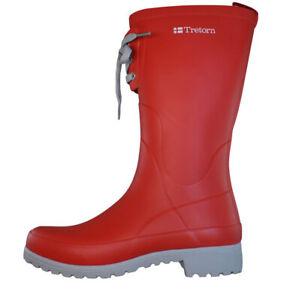 Tretorn Soho Womens Rubber Wellington Boots Waterproof Winter Rain Wellies Red
