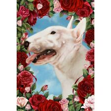 New listing Roses Garden Flag - Bull Terrier 190991