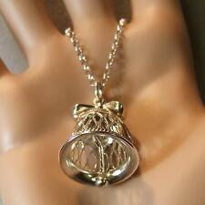 SILVER second hand wedding bell pendant & chain