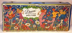 Vintage 1970's TOPPER DAWN  6 Dolls DOLL CASE