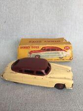 Boxed Dinky Toys Car Hudson Commodore Sedan #171 Cream Maroon Red