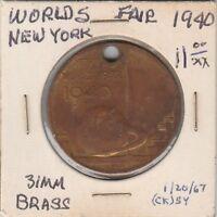 LAM(A) Token - New York World's Fair - 1940 - 31 MM Brass