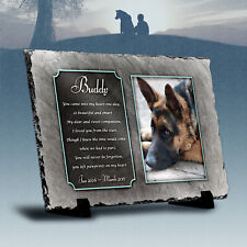 Dog Memorial Natural Slate Personalised - Photo & Verse Pet Rememberance