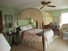 ANTIQUE CURLY MAPLE SHERATON CANOPY BED FROM  MULBERRY PLANTATION-CHARLESTON,SC