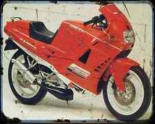 Cagiva 125 Freccia C12R 91 A4 Metal Sign Motorbike Vintage Aged