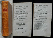 C/CONSIDÉRATIONS SUR LES CAUSES DE LA GRANDEUR DES ROMAINS Bruysset An XIII-1804