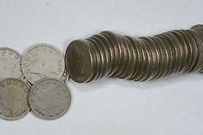 """LIBERTY """"V"""" NICKEL 5C LOT (45 COINS) F/VF PROBLEM FREE ASSORTED DATES"""