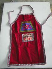 Festive Ethnic Apron never used Christmas colors one size