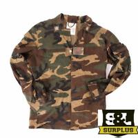 Italian army surplus woodland camouflage field shirt