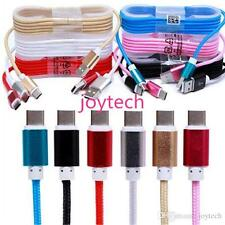 Braided 1.5M 5FT Micro USB charging cable  for HTC/Samsung/Android etc-9 Colors!