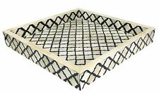 Vassoio Decorativo oraganiser MAROCCHINO modello Bufalo Osso fatto a mano Taglia 12x12''