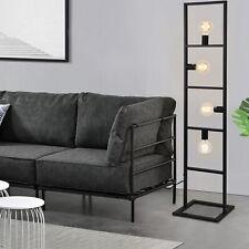 Stehleuchte 142cm Stehlampe Standleuchte Stand Lampe Metall 4-flammig