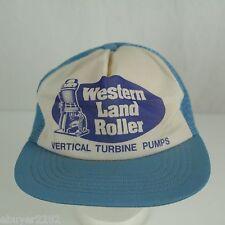 Vintage Snapback Mesh Trucker Hat - Western Land Roller - Vertical Turbine Pumps