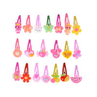 20x Mixed Baby Kid Children Girls Cartoon Hair Pin Clips
