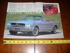1966 FORD MUSTANG GT CONVERTIBLE ***ORIGINAL 1995 ARTICLE***