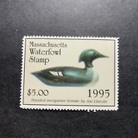 WTDstamps - 1995 MASSACHUSETTS - State Duck Stamp - Mint OG NH ---