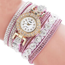 Fashion Women's Stainless Steel Bling Rhinestone Bracelet Wrist Watch Gifts