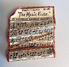Magic Flute Mozart Opera Sheet Music Wearable Art Pin Brooch LE 5/25 Signed 1992