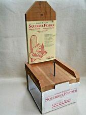 Country Home Red Cedar Squirrel Feeder Model SF6 / NOS