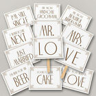 Vintage style wedding photo props sign free stand photo booth - L