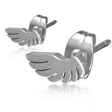 Ohrstecker Edelstahl Engelsflügel Engel Flügel Silber Ohrringe Stecker  ME305