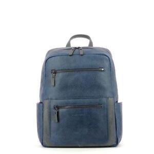 Piquadro Backpack  Karl Type Rucksack  Grey Leather CA4102W81 Blue