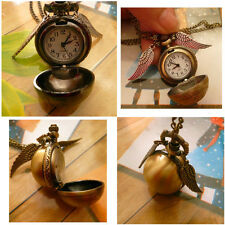 Bronze Snitch Quidditch Ball Watch Harry Potter Antique Steampunk Pocket Watch
