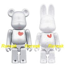 Bearbrick Rabbrick 20th Anni Commemorative 100% Heart R@bbrick & Be@rbrick set