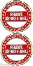 AIR FORCE REMOVE BEFORE FLIGHT MILITARY CHALLENGE COIN