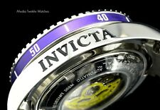 New Invicta 47mm Grand Diver 2 Gen II Automatic Charcoal Dial Purple Bezel Watch