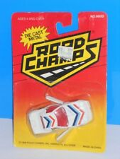 Road Champs Late 80s Release 1980s Corvette White On Card