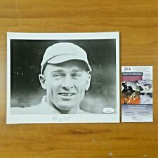 Larry Gardner Played w/ Babe Ruth Signed 8x10 Photo with JSA COA