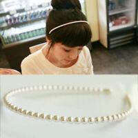 Hot Fashion Women Girls Casual Pearl Hair Hoop Elegant Headband Hair Accessories