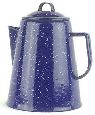 Vintage Coleman 9 Cup Coffee Percolator 803A709 Blue Enamelwear New in Box