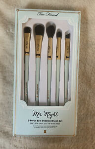 Too Faced Mr. Right 5 Piece Eyeshadow Brush Set NEW