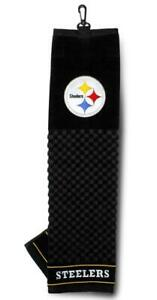 """Pittsburgh Steelers 16""""x22"""" Embroidered Golf Towel [NEW] NFL Golfing Cotton"""