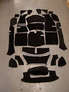 MG MGA 56-62 ROADSTER OR COUPE BLACK LOOP CARPET KIT WITH 20 OUNCE PADDING