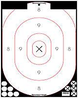 New! Birchwood Casey Shoot-N-C Wht/Blk 12X18In Silhouette 5Pk 34615