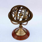 NAUTICAL SOLID BRASS ARMILLARY SPHERE TABLE TOP ASTROLABE ARMILLARY