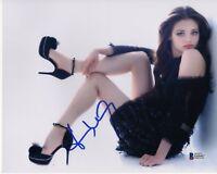 INDIA EISLEY SIGNED PHOTO 8X10 I AM THE NIGHT AUTOGRAPH FAUNA FEET LEGS BAS COA