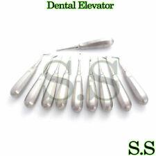 10 Dental Elevators Mix Surgical Medical Instruments