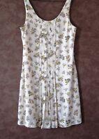 Robe  MANGO T40 - Robe polyester doublée beige petites fleurs (1805065)