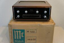 MCINTOSH MA6100 INTEGRATED AMPLIFER WITH WOODEN COVER AND ORIGINAL SHIPPING BOX