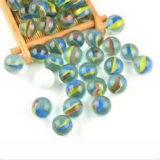 50pcs 16mm Colored Glass Bead Marbles Balls Kids Children Toys Party Bag Filler